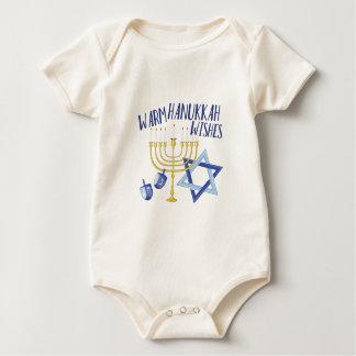Hanukkah Wishes Baby Bodysuit