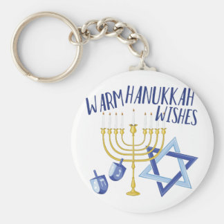 Hanukkah Wishes Keychain
