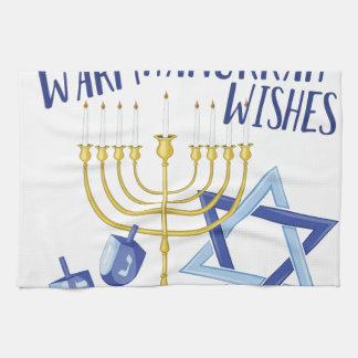 Hanukkah Wishes Kitchen Towel