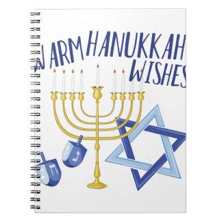 Hanukkah Wishes Spiral Notebook