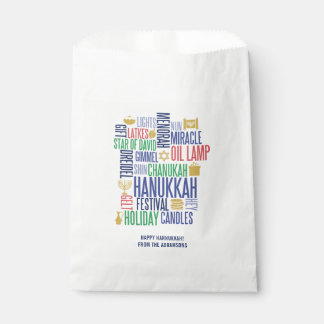 Hanukkah Words Holiday Favor Bag