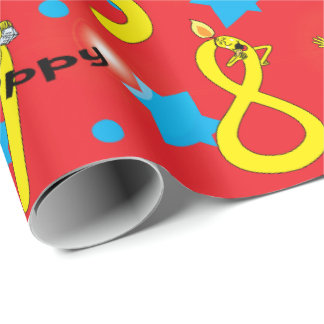 "Hanukkah Wrapping Paper ""Happy Hanukkah Numbers"""
