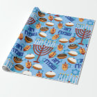 Hanukkah Wrapping Paper Happy Holiday