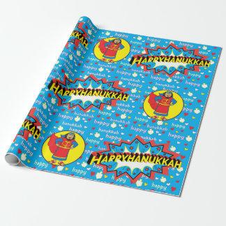 """Hanukkah Wrapping Paper """"Judah Super Hero"""""""