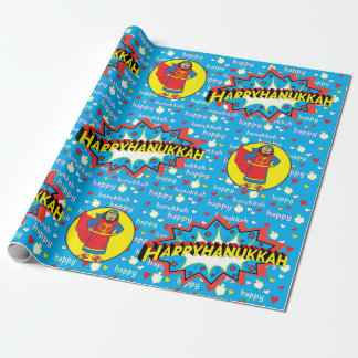 "Hanukkah Wrapping Paper ""Judah Super Hero"" 2016"