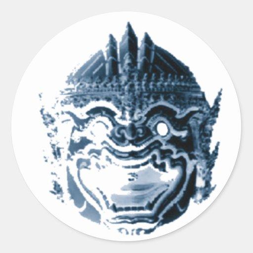 HANUMAN - ANJANEYA - HINDU - BUDDHAISM ROUND STICKER