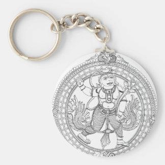 Hanuman Basic Round Button Keychain