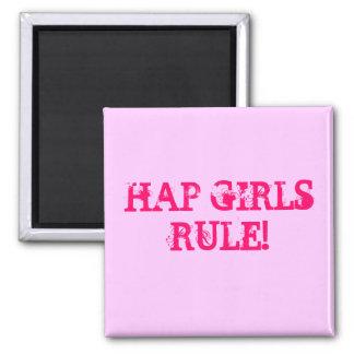 HAP GIRLS RULE! Square Magnet