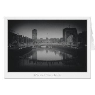 Ha'penny Bridge, Dublin Card
