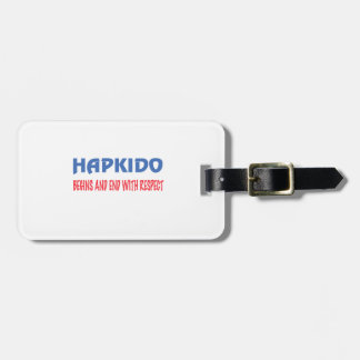 Hapkido Begins and End with Respect Luggage Tag