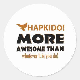 HAPKIDO! DESIGN CLASSIC ROUND STICKER