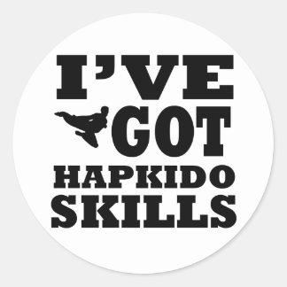Hapkido Martial Arts designs Classic Round Sticker