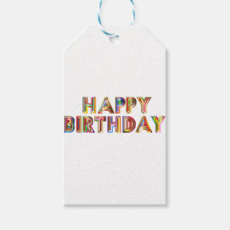 Happ Birthday Pack Of Gift Tags