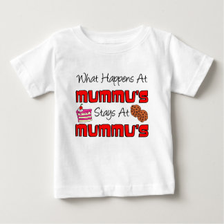 Happens At Mummu Stays At Mummu Baby T-Shirt