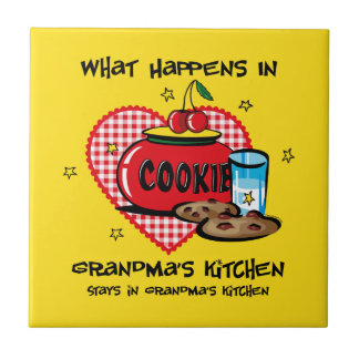 Happens In Grandma's Kitchen Tile Trivet