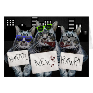 Happi New Rawr Kitty Trio Card