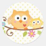 HAPPI TREE OWL BABY SHOWER STICKER