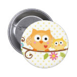 HAPPI TREE OWL BUTTON