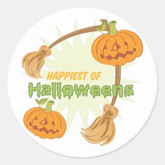 Happiest Halloweens Round Sticker