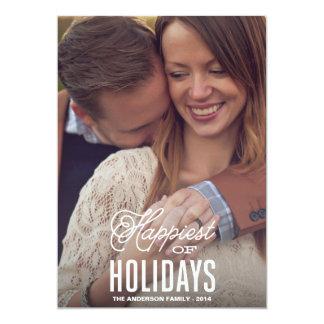"HAPPIEST | HOLIDAY PHOTO CARD 5"" X 7"" INVITATION CARD"