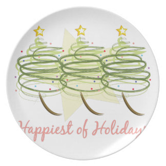 Happiest Holidays Plate