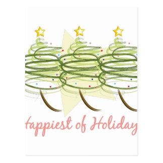 Happiest Holidays Postcard
