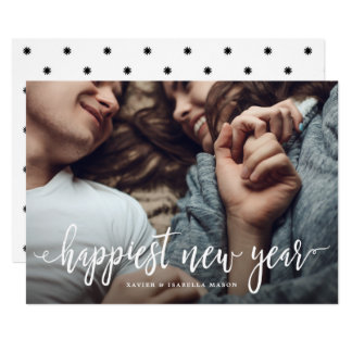 Happiest New Year Holiday Photo Card