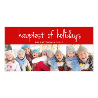 Happiest of Holidays Christmas Greeting Photo Card