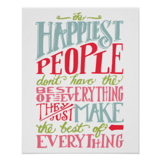 Happiest People Poster