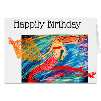 Happily Birthday Card