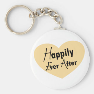 Happily Ever After Basic Round Button Keychain