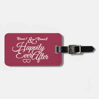 Happily Ever After custom luggage tag