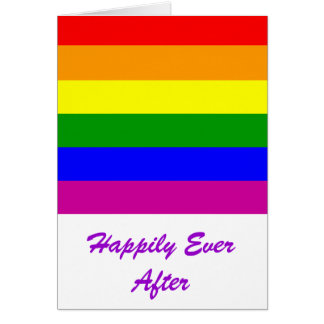 Happily Ever After/Gay Wedding Card