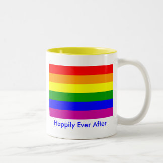Happily Ever After/Gay Wedding Two-Tone Coffee Mug