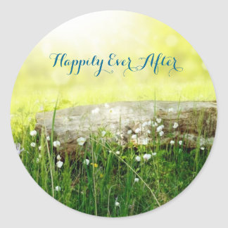 """Happily Ever After"" Mystical Meadow Favor Sticker"