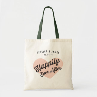 Happily Ever After Newlywed Wedding Tote Bag