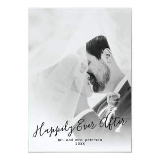 Happily Ever After Photo Wedding Announcement