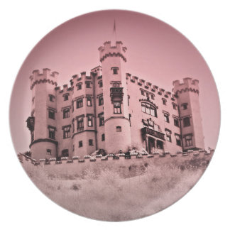 Happily Ever After Pink Castle Plate