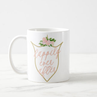 Happily Ever After Pink Flower Coffee Mug