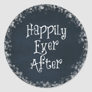 Happily Ever After Quote Round Sticker
