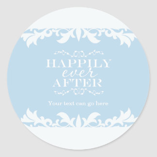 HAPPILY EVER AFTER Storybook Party Favor Sticker