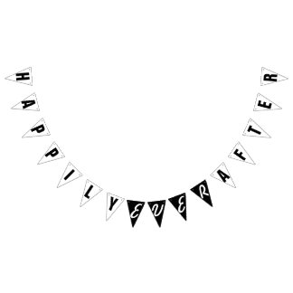 HAPPILY EVER AFTER WEDDING DECOR BUNTING FLAGS