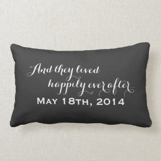 Happily Ever After Wedding Keepsake | Chalkboard Lumbar Pillow