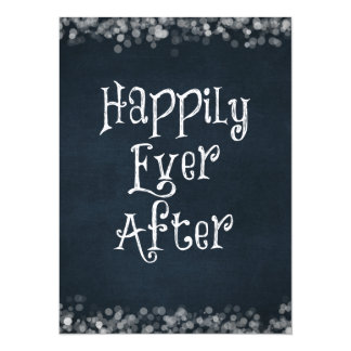 """Happily Ever After Wedding or Anniversary Blank 5.5"""" X 7.5"""" Invitation Card"""
