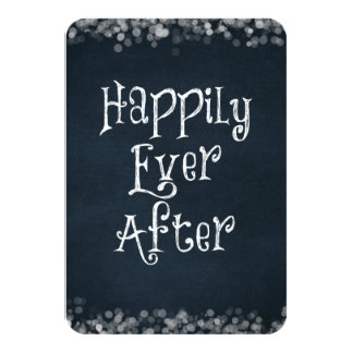 Happily Ever After Wedding or Anniversary Blank 3.5x5 Paper Invitation Card