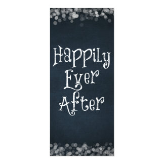 Happily Ever After Wedding or Anniversary Blank 4x9.25 Paper Invitation Card