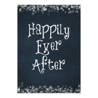 Happily Ever After Wedding or Anniversary Blank Personalized Invites