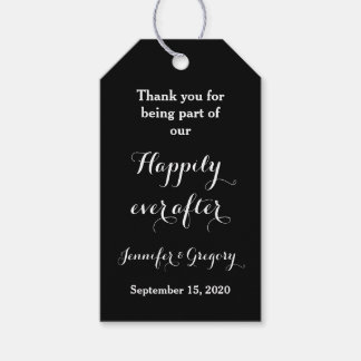 Happily ever after Wedding Thank You Favor Gift Tags