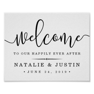 Happily Ever After   Wedding Welcome Sign