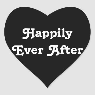Happily Ever  - Simple Heart For Wedding Reception Heart Sticker